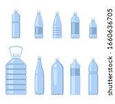 vector set of flat blue plastic ...   Shutterstock .eps vector #1660636705