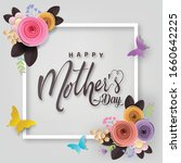 happy mother's day card  flower ... | Shutterstock .eps vector #1660642225