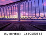 sunset view through a white... | Shutterstock . vector #1660650565