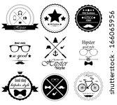 hipster style | Shutterstock .eps vector #166065956