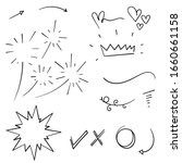 vector hand drawn collection of ... | Shutterstock .eps vector #1660661158