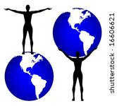 vector man and the world is... | Shutterstock .eps vector #16606621