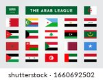 set of the arab league... | Shutterstock .eps vector #1660692502