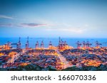 shanghai container terminal in... | Shutterstock . vector #166070336