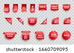 red realistic ribbon price tag...   Shutterstock .eps vector #1660709095