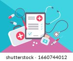 medical form list with results... | Shutterstock .eps vector #1660744012