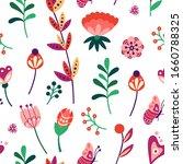 floral seamless pattern....   Shutterstock .eps vector #1660788325