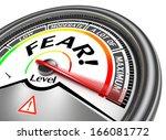 fear conceptual meter indicate... | Shutterstock . vector #166081772