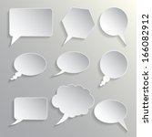 set of dialogues grey | Shutterstock .eps vector #166082912