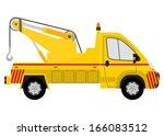 tow truck silhouette. vector | Shutterstock .eps vector #166083512