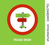crossroad direction icon  ... | Shutterstock .eps vector #1660840792