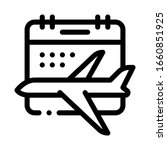 plane fly calendar date icon... | Shutterstock .eps vector #1660851925