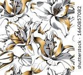 flower pattern vector naturre...   Shutterstock .eps vector #1660857082