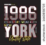 1986 new york typography for... | Shutterstock .eps vector #1660858735