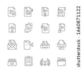 simple set of documents related ... | Shutterstock .eps vector #1660871122