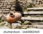 Ancient Amphora In Old Town Of...