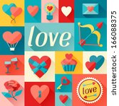 valentine's and wedding... | Shutterstock .eps vector #166088375