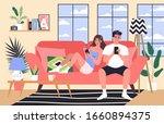 smartphone addiction concept... | Shutterstock .eps vector #1660894375