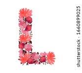 vector floral letter  capital...   Shutterstock .eps vector #1660899025