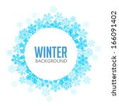 blue winter background with... | Shutterstock .eps vector #166091402