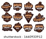 set of burger  fast food... | Shutterstock .eps vector #1660933912