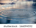 Circles On The Water Of A Lake...