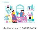 home plant shop flat...   Shutterstock .eps vector #1660952635
