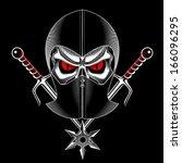 skull ninja | Shutterstock .eps vector #166096295