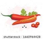 Red Chili Vector Illustration...
