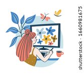 graphic designer creating... | Shutterstock .eps vector #1660981675