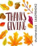 thanksgiving day hand drawn...   Shutterstock .eps vector #1660984042