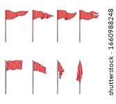 vector set of cartoon red flags ... | Shutterstock .eps vector #1660988248