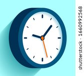 clock icon in flat style  timer ...   Shutterstock .eps vector #1660992568