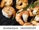 Fried Shrimps With Herbs  Clos...