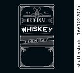 whiskey label. vintage alcohol... | Shutterstock .eps vector #1661022025