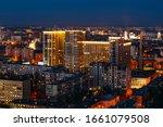 Night Voronezh Aerial Cityscap...
