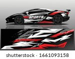 sports car wrapping decal design   Shutterstock .eps vector #1661093158