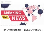 breaking news headline template.... | Shutterstock .eps vector #1661094508