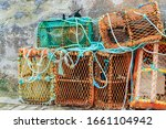 Lobster Traps On The Quayside...