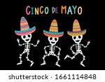 cinco de mayo greeting card...   Shutterstock .eps vector #1661114848