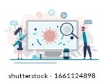 virologists are researching a... | Shutterstock .eps vector #1661124898