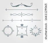 set of vintage decorations... | Shutterstock .eps vector #1661129065