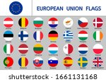 set of european union flags ... | Shutterstock .eps vector #1661131168