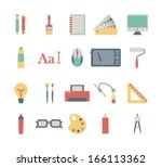 set of colorful graphic design... | Shutterstock .eps vector #166113362
