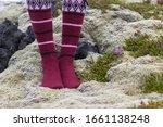 Girl Wearing Icelandic Wool...