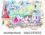 watercolor drawing picture of...   Shutterstock . vector #1661192032