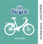 bicycle design over blue ... | Shutterstock .eps vector #166120406