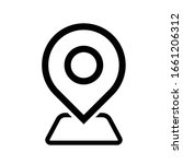 location pin icon outline...   Shutterstock .eps vector #1661206312