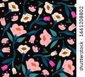 hand drawn elegant flowers.... | Shutterstock .eps vector #1661208802
