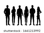 vector silhouettes of  men and... | Shutterstock .eps vector #1661213992